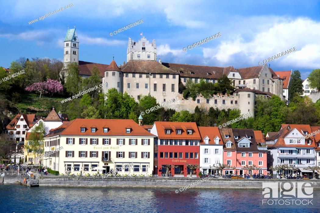 Stock Photo: Meersburg, Lake Constance, Baden-Wuerttemberg, Germany, Europe.