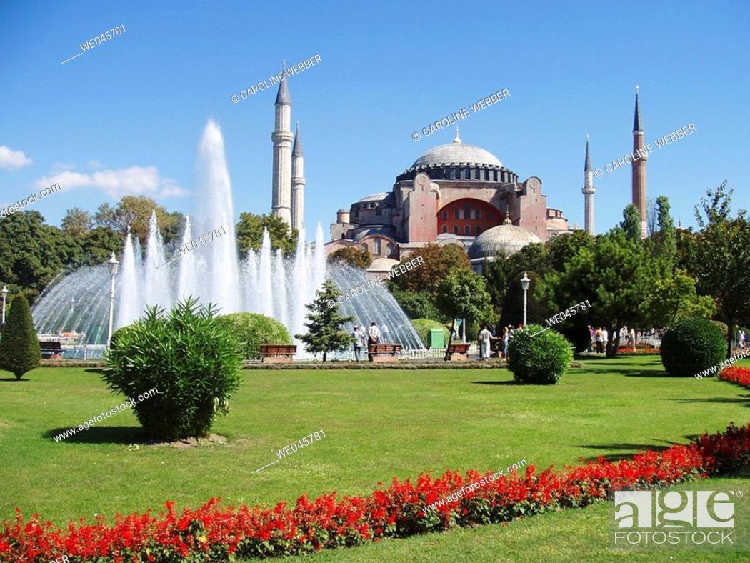 Stock Photo: hagia sofia mosque, istanbul.