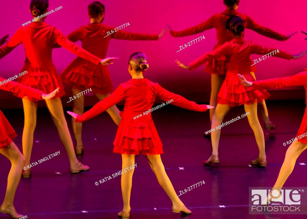 Stock Photo: Dancers at a recital at the Carolina Theater in Durham.