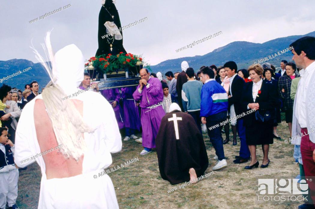 Stock Photo: 'Los Picaos', Holy Week. San Vicente de la Sonsierra. La Rioja. Spain.