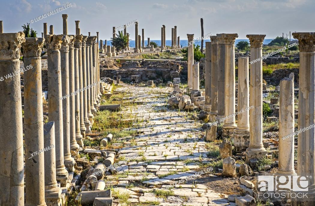 Stock Photo: Al-Mina archaeological site, Tyre (Sour), Lebanon.