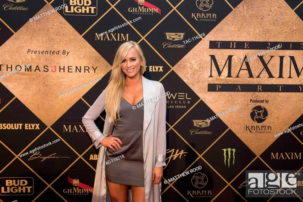 Stock Photo - Danielle Moinet attends the red carpet at the 2017 Maxim Party for Super Bowl LI at Smart Financial Centre on February 4, 2017 in Houston, ...