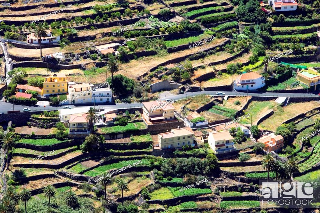 Stock Photo: Spain - Canary Islands - La Gomera - Valle Gran Rey.
