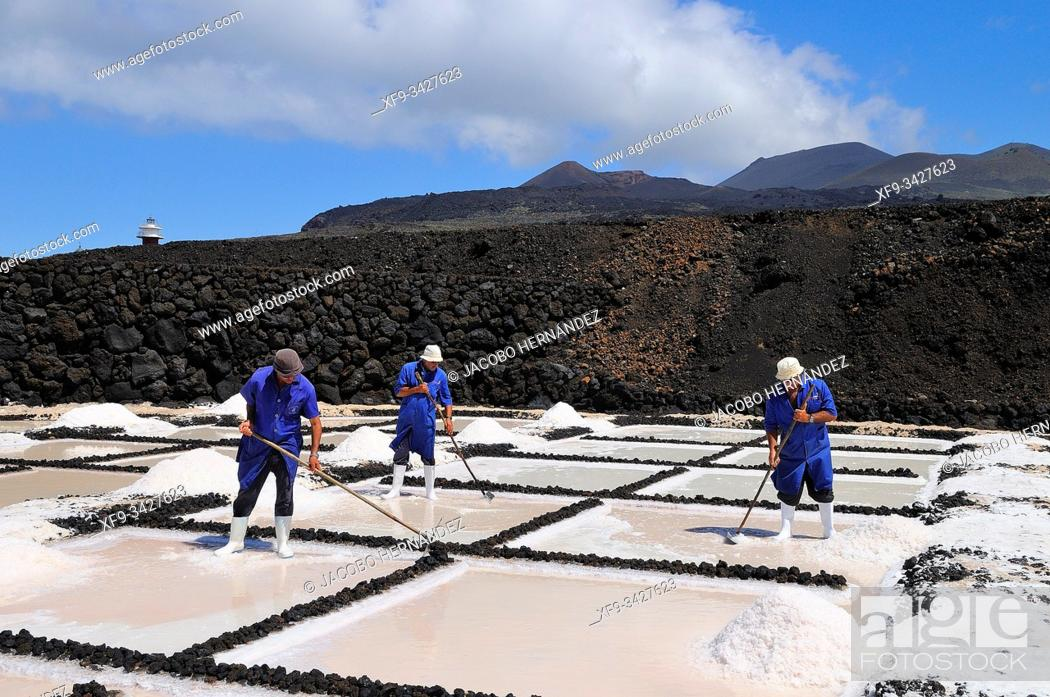 Stock Photo: Saline. Fuencaliente. La Palma. Canary Islands. Spain.