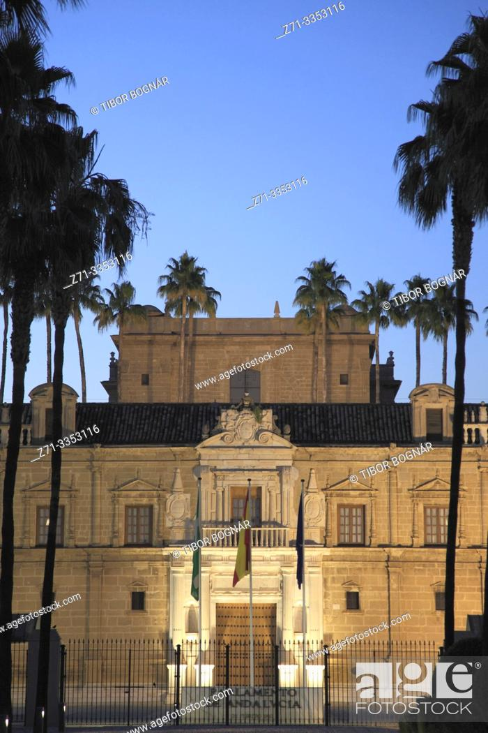 Stock Photo: Spain; Andalusia; Seville; Parliament of Andalusia,.