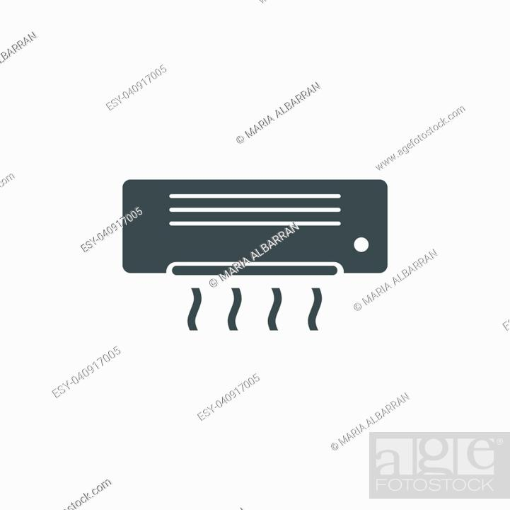 Vector: Air conditioning icon on white background.