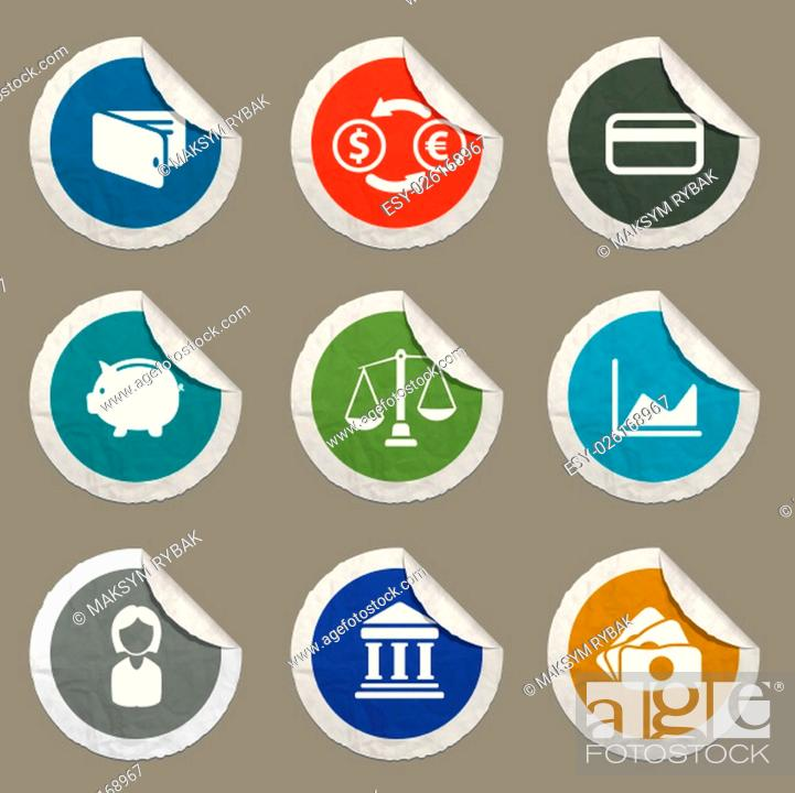 Imagen: Finance icons set for web sites and user interface.