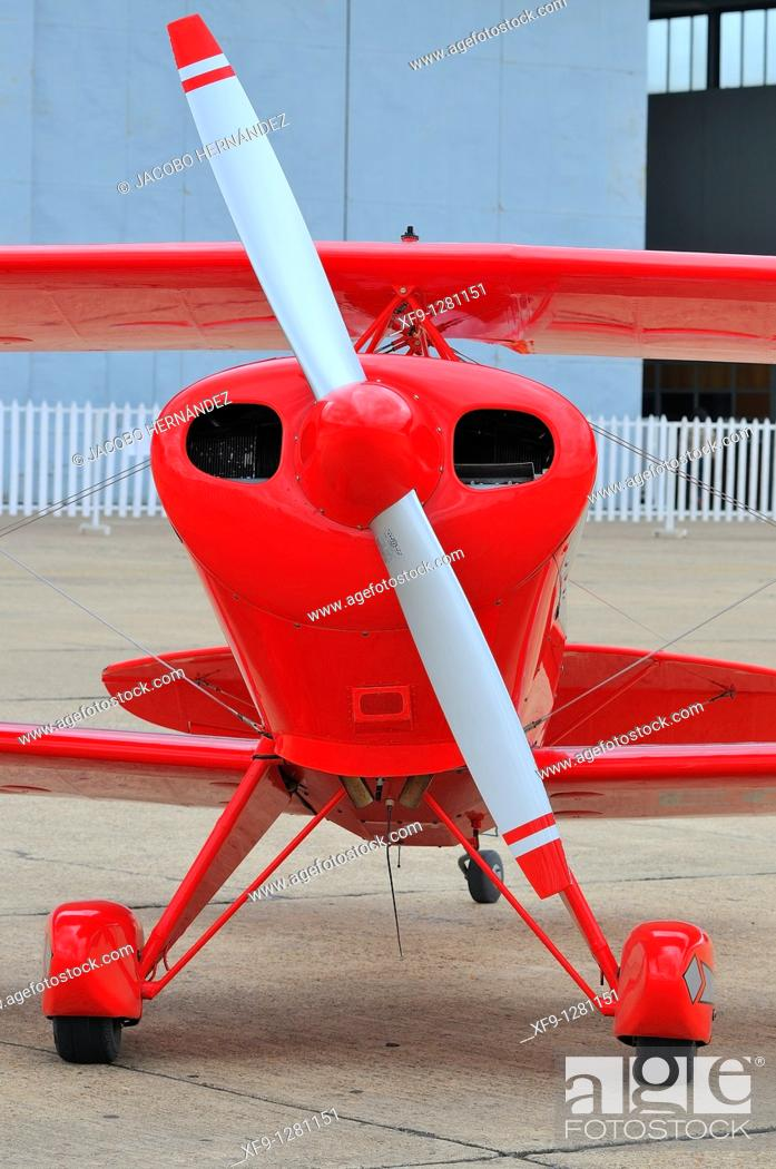 Stock Photo: Acrobatic biplane.