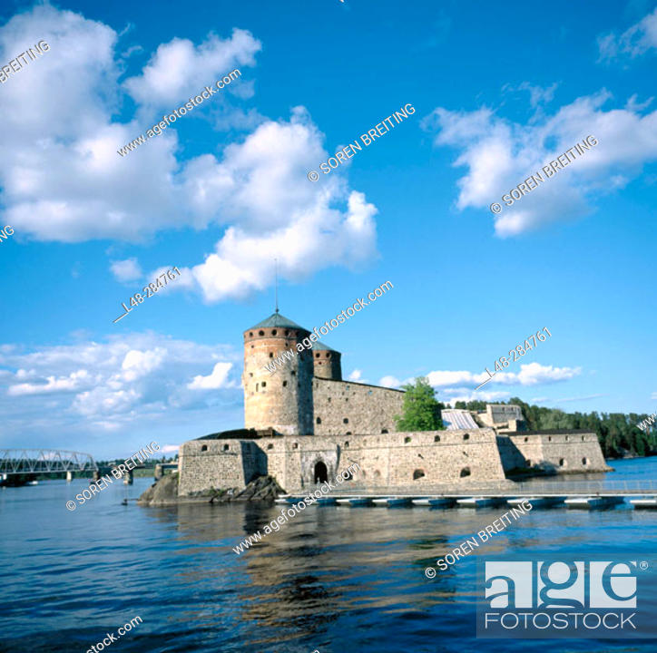 Stock Photo: Olavinlinna Castle (aka Olofsborg Castle), founded in 1475. World Heritage Site. Savonlinna. Finland.