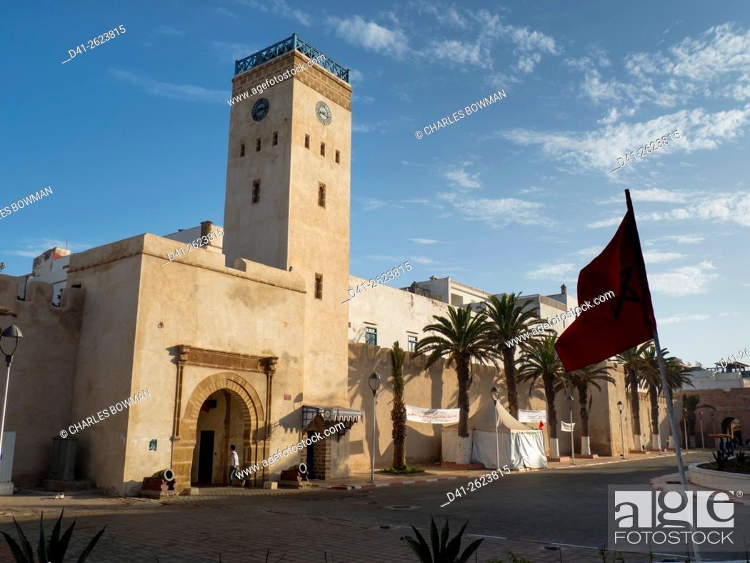 Stock Photo: Morocco, Essaouira, Medina streetscene.