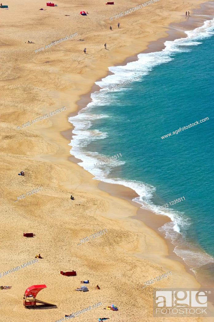 Stock Photo: Nazare, Beach, Leiria distric  Estremadura  Portugal.