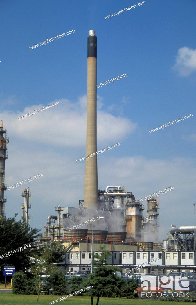Stock Photo: Humber oil refinery, South Killingholme Lincs UK.