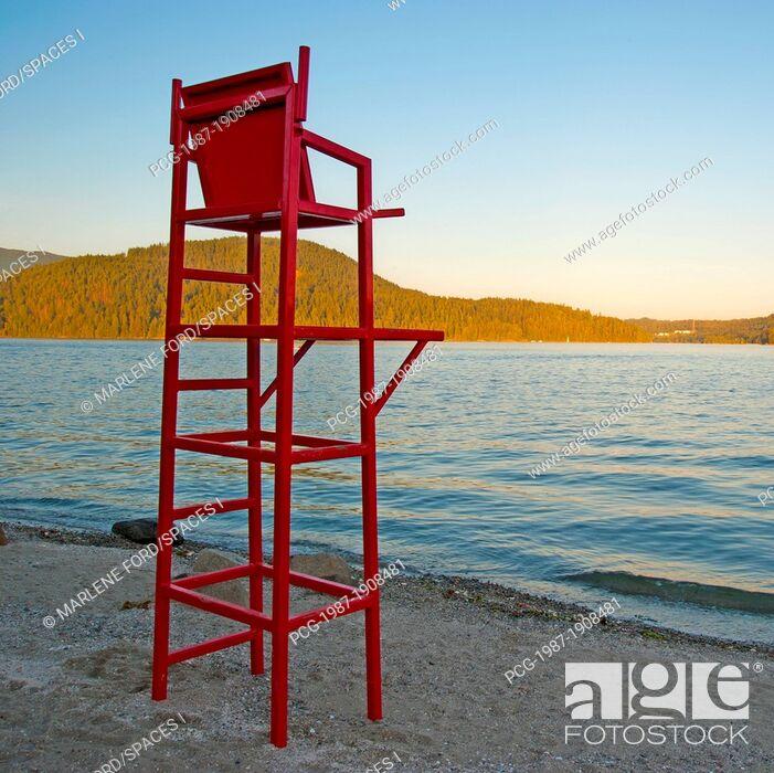 Stock Photo: Lifeguard Chair at the Beach.