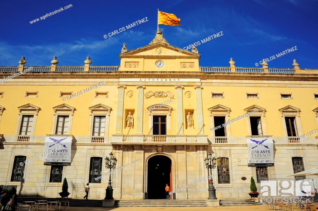 Stock Photo: Town Hall, Tarragona, Catalonia, Spain.