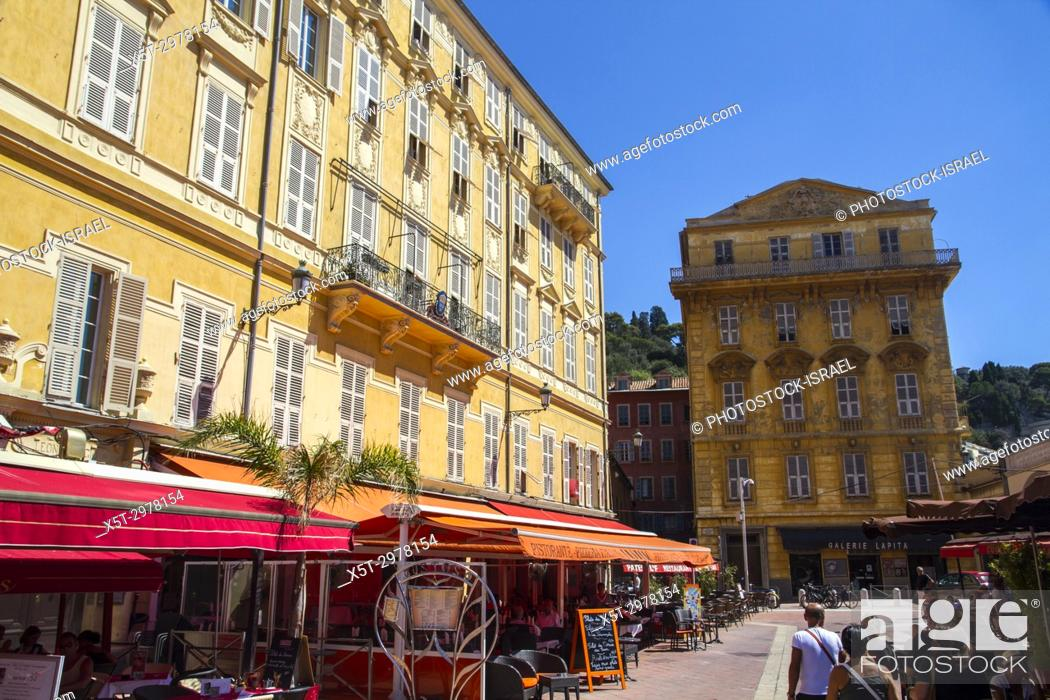 Stock Photo: Vieux Nice, Old Town, Nice, France.