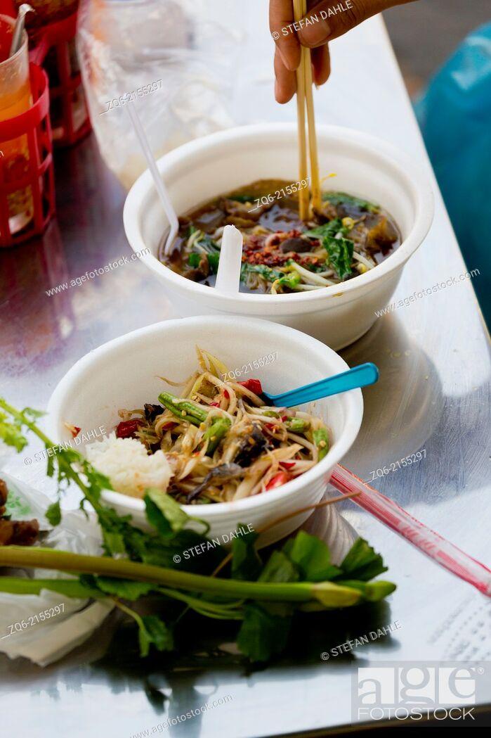 Stock Photo: Thai Noodel Soup in Bangkok, Thailand.