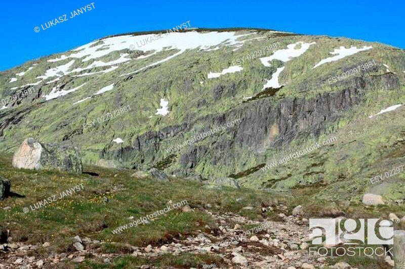 Stock Photo: mountain of Gredos at Avila in Castilla Spain.