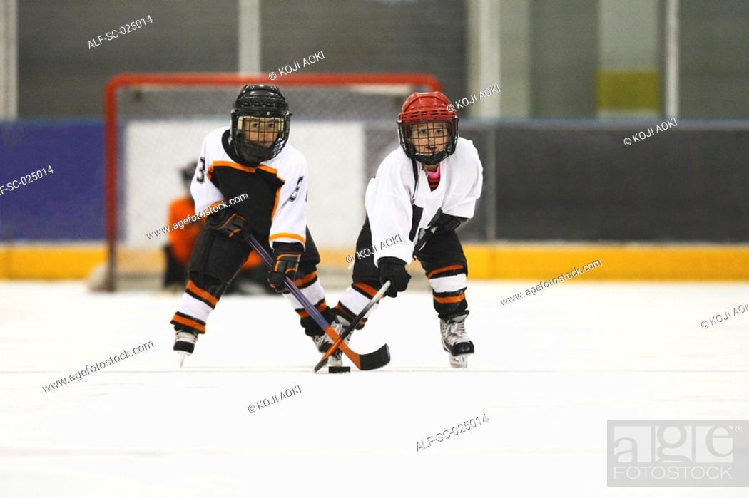 Stock Photo: Young Hockey Players.