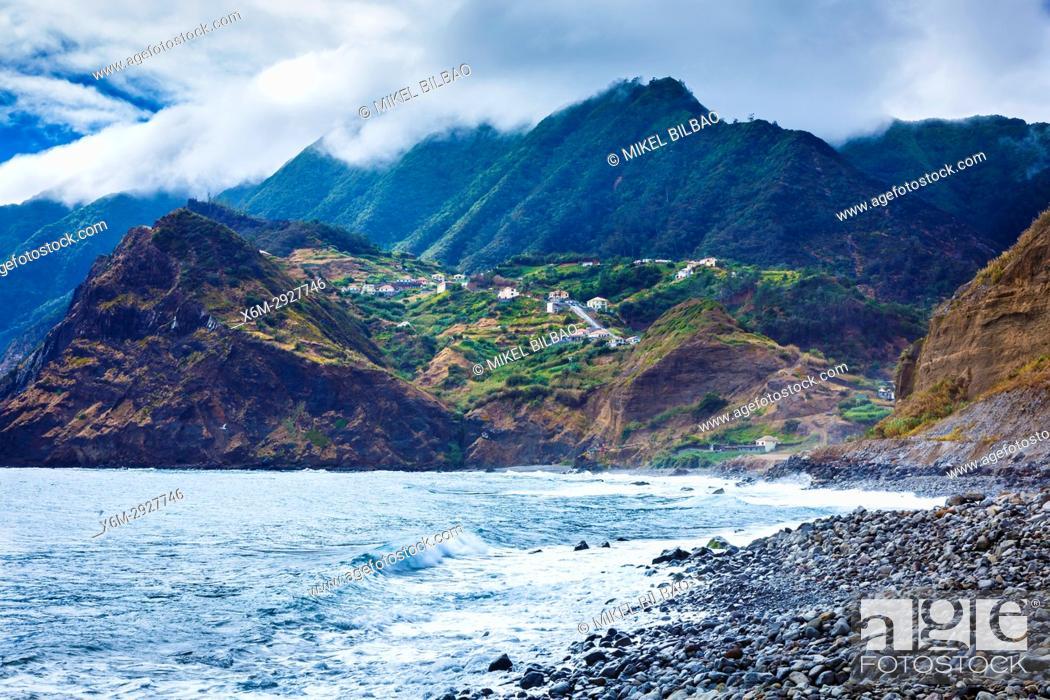 Stock Photo: Porto da Cruz. Madeira, Portugal, Europe.