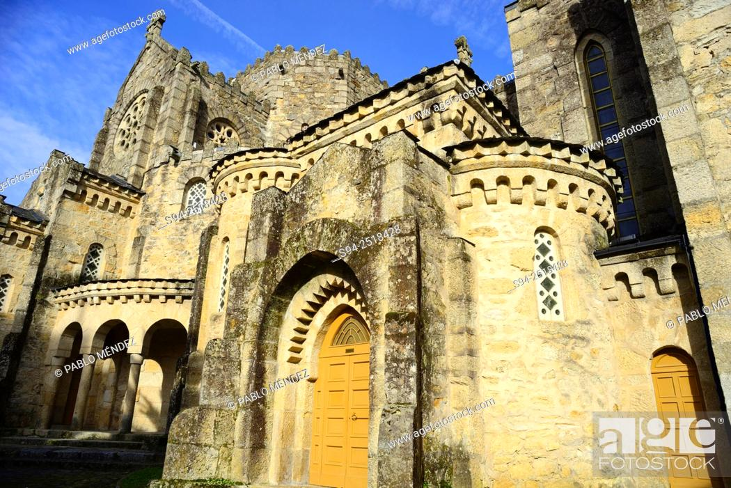 Stock Photo: Church of Vera Cruz in Carballiño, Orense, Spain.