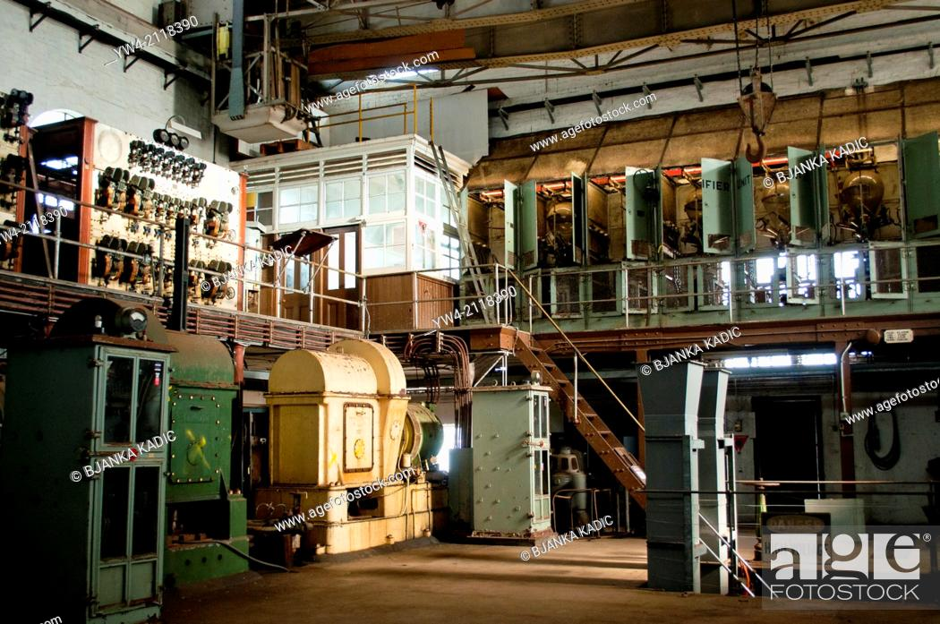 Stock Photo: Ruwolt industrial machinery from the first half of 20th century, Cockatoo Island, Sydney, Australia.