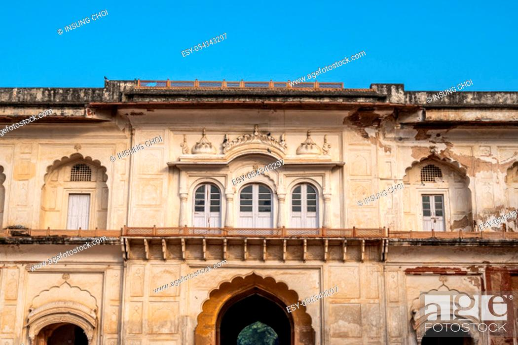 Stock Photo: main entrance to safdarjung tomb complex in new delhi, india.