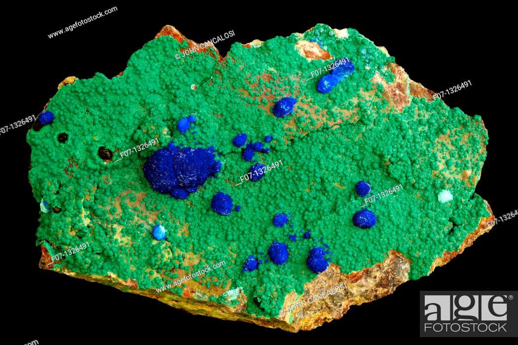 Azurite and Malachite - China - Bisbee - Arizona - both very