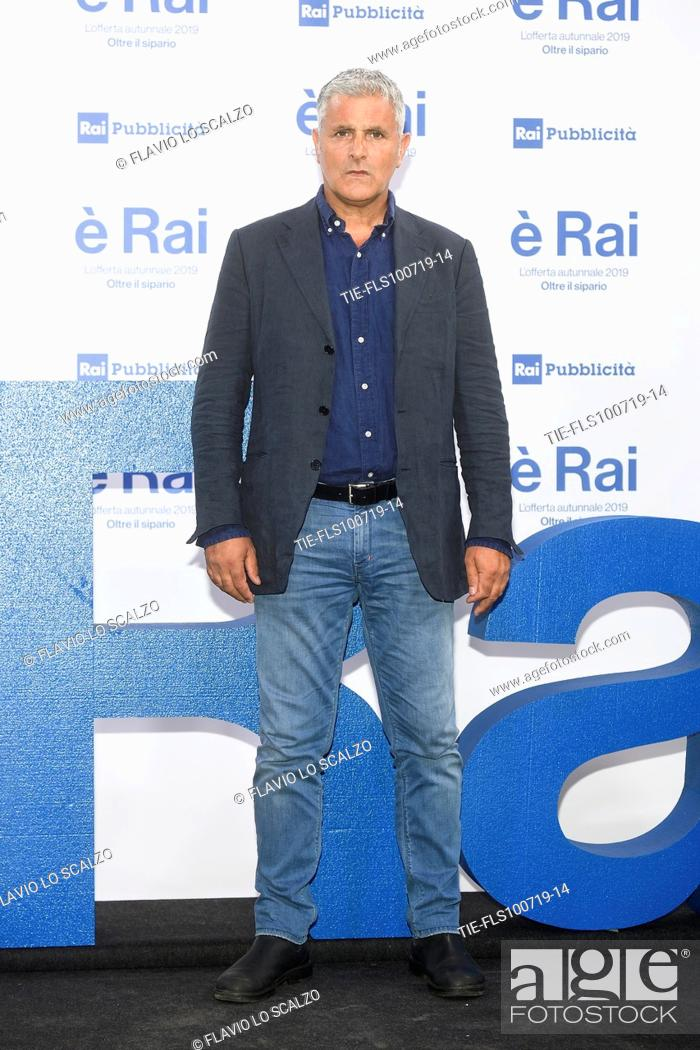 Stock Photo: Enrico Lucci during the Rai programming launch in Milan, ITALY-09-07-2019.