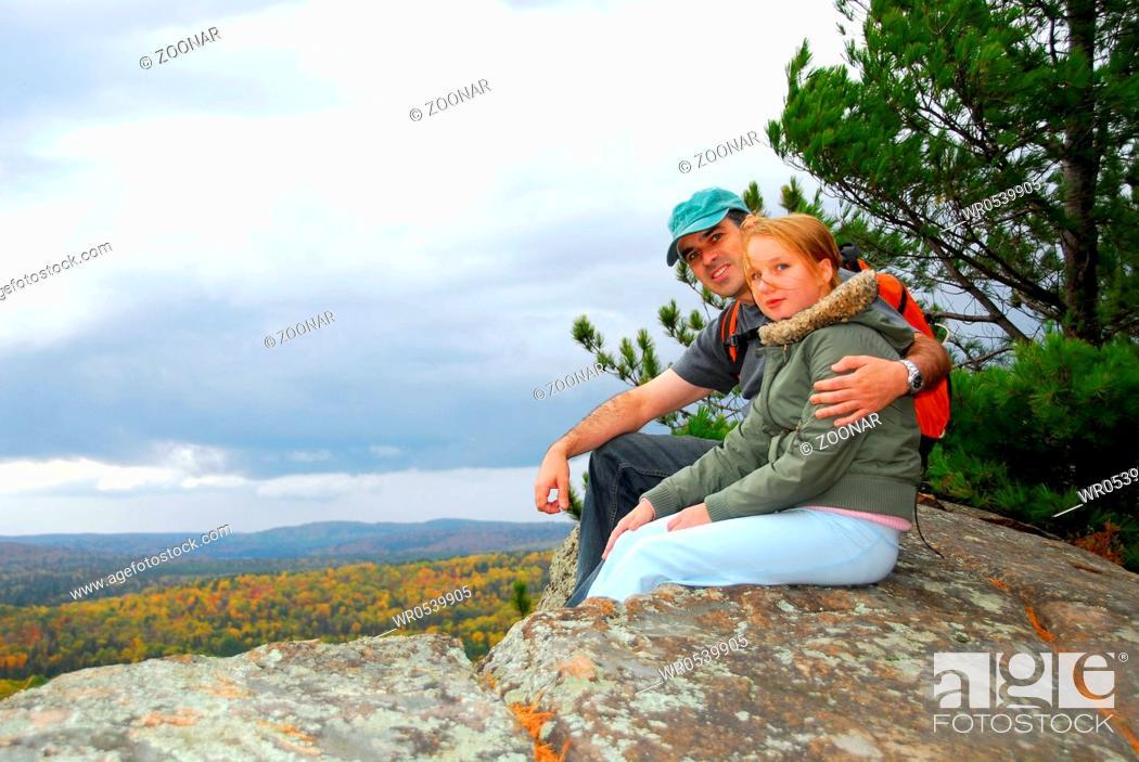 Stock Photo: Hikers.