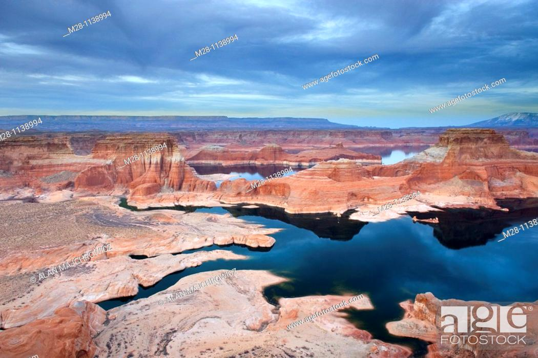 Stock Photo: View of Padre Bay and Lake Powell from Alstrom Point, Glen Canyon National Recreation Area Utah.