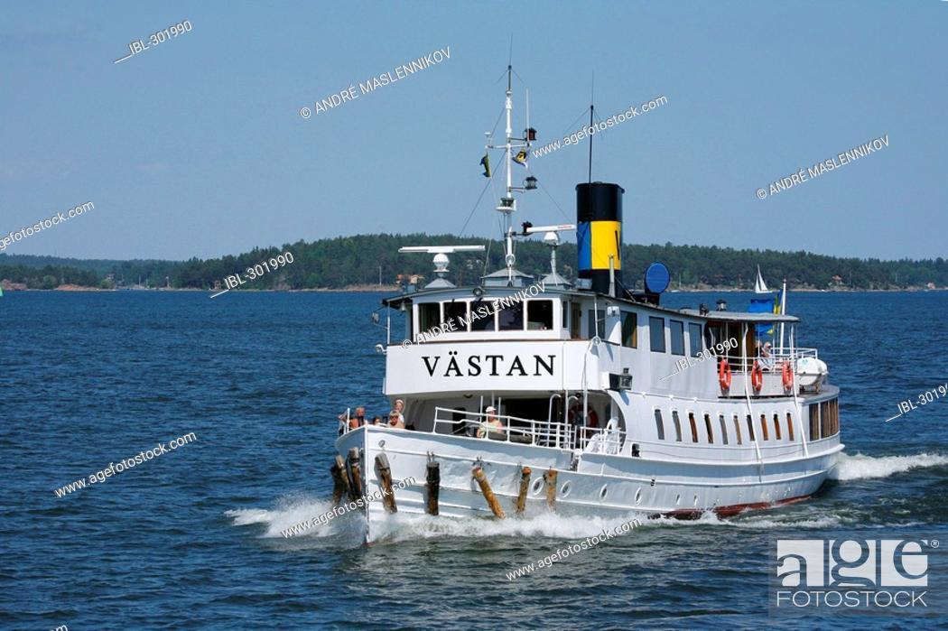 Stock Photo: Boat in Stockholm.