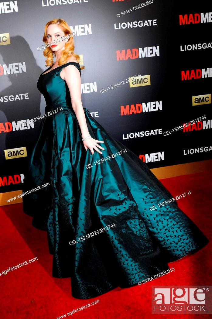 a68feb72fbbd Stock Photo - Christina Hendricks (wearing a Zac Posen gown) at arrivals  for MAD MEN & AMC Present The Black & Red Ball, The Music Center's Dorothy  Chandler ...