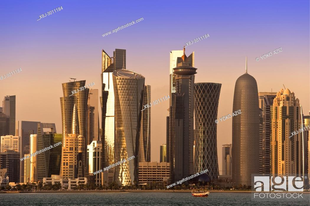 Stock Photo: Qatar, Doha, skyline.