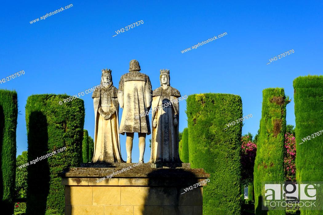 Stock Photo: Alcazar Gardens, Cordoba.