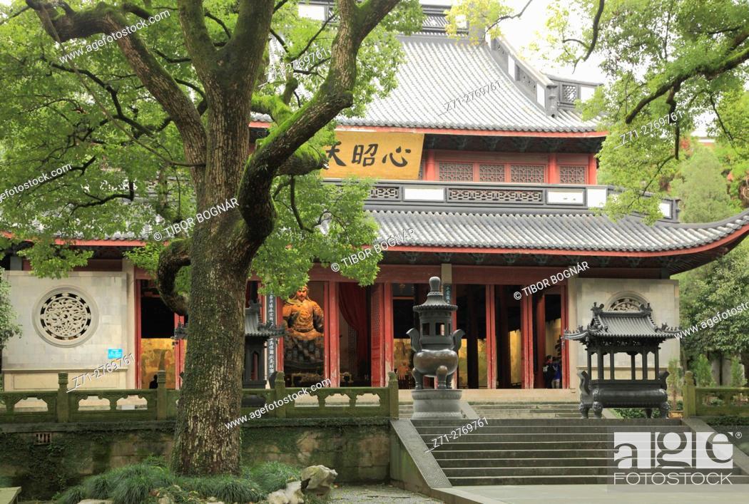 Stock Photo: China, Zhejiang, Hangzhou, Yue Fei Temple,.