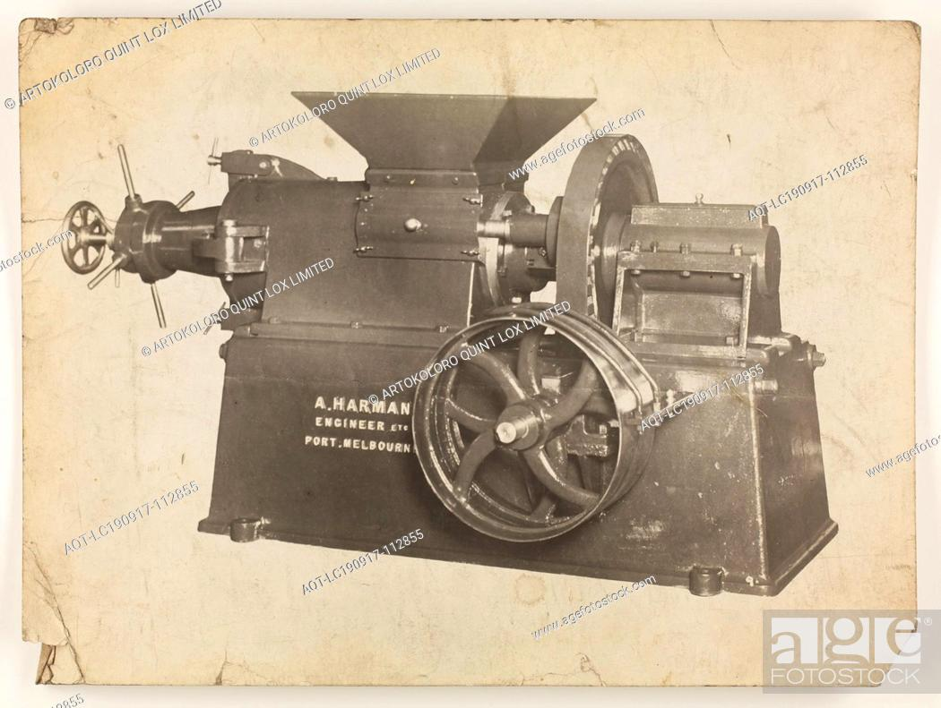 Stock Photo: Photograph - A.T. Harman & Sons, Industrial Equipment, circa 1923, A black and white photograph of industrial equipment produced by A.T.