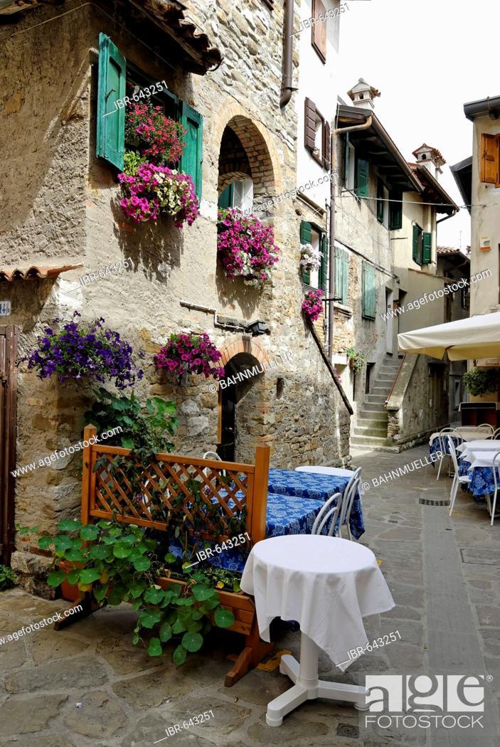 Stock Photo: Grado at the adriatic sea Friuli Venezia Giulia Italy in the narrow streets in the oldest parts of the town.