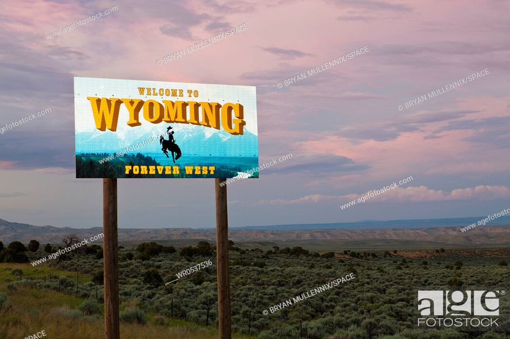 Imagen: Welcome to Wyoming Sign.