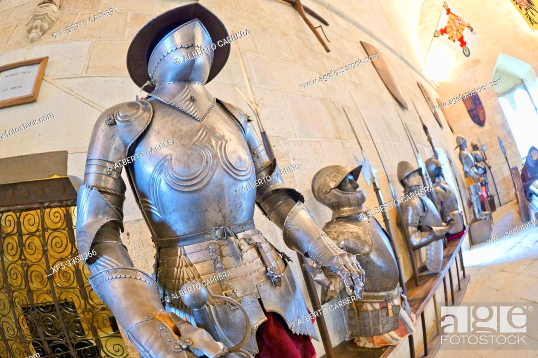 Stock Photo: Armory Room, Sala de Armas, Alcázar of Segovia, Segovia, UNESCO World Heritage Site, Castilla y León, Spain, Europe.