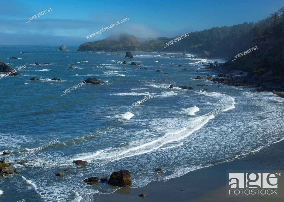 Stock Photo: View from Otter Point, Otter Point State Park, Oregon.