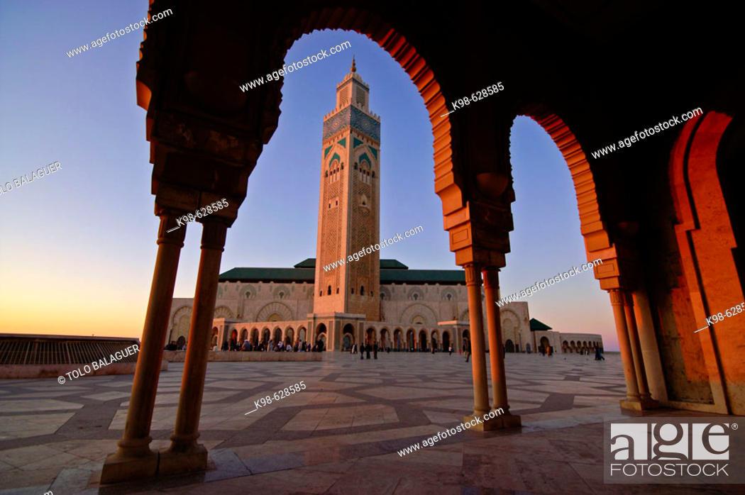 Stock Photo: Hassan II Mosque. Casablanca (Dar el Beïda). Morocco.