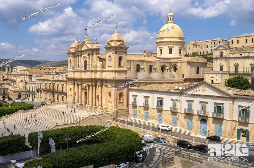 Stock Photo: Cathedral, Noto, Siracusa, Sicily, Italy.