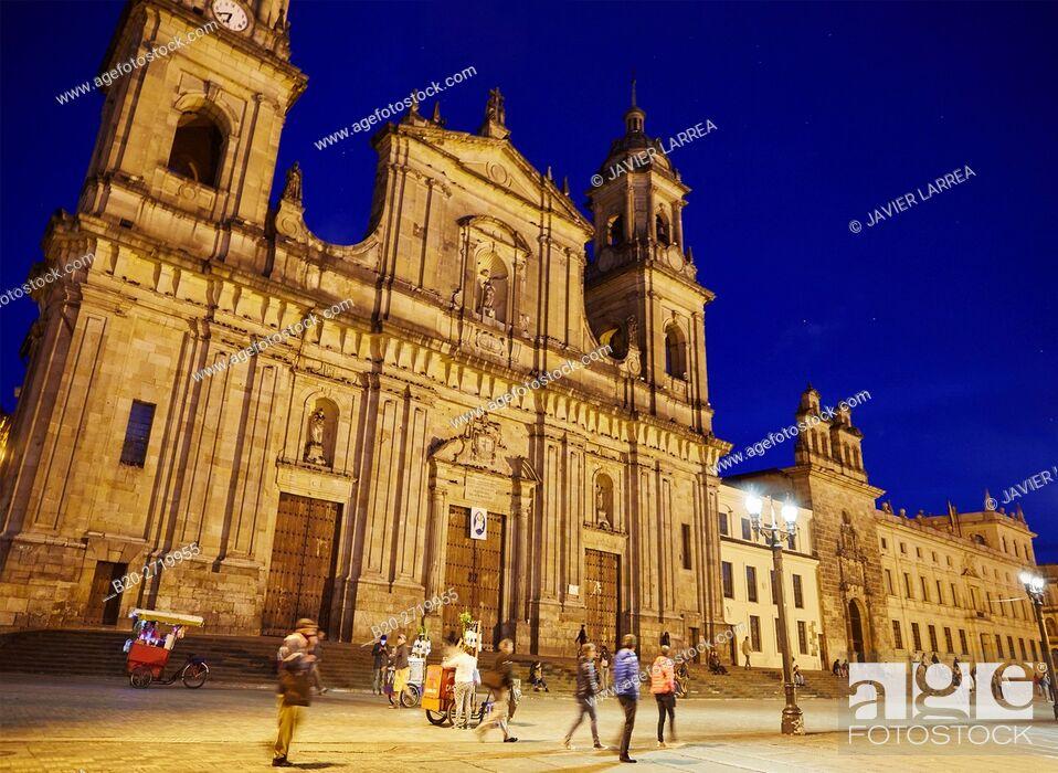 Stock Photo: Catedral Primada de Colombia, La Candelaria, Bogota, Cundinamarca, Colombia, South America.