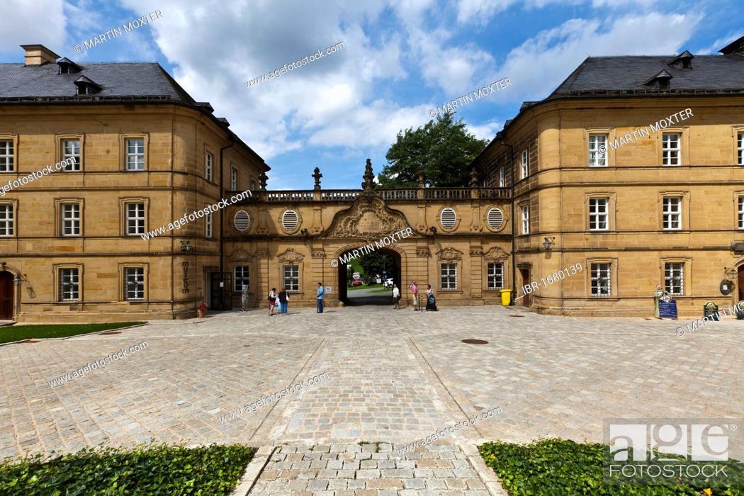 Stock Photo: Banz Abbey, a former Benedictine monastery, near Bad Staffelstein, Lichtenfels, Upper Franconia, Bavaria, Germany, Europe.
