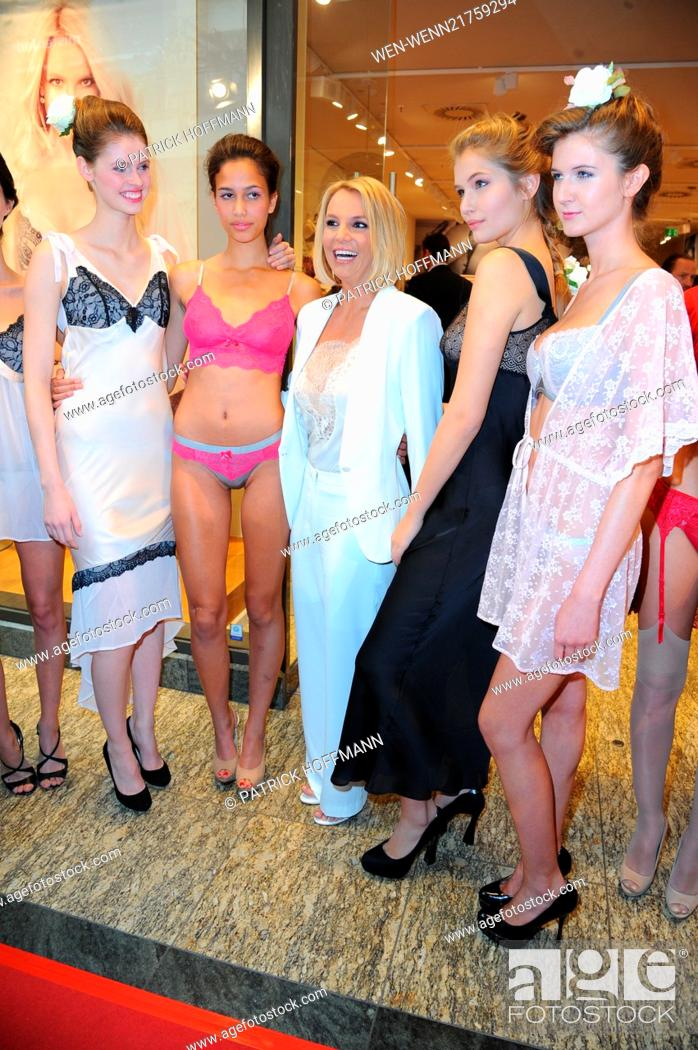 Stock Photo  Britney Spears promoting her lingerie line Intimate Collection  at CentrO Oberhausen shopping mall ca99feca28f