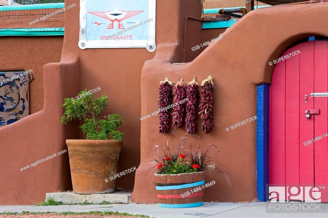 Stock Photo: USA, New Mexico, Santa Fe, Casa Chimayo restaurant.