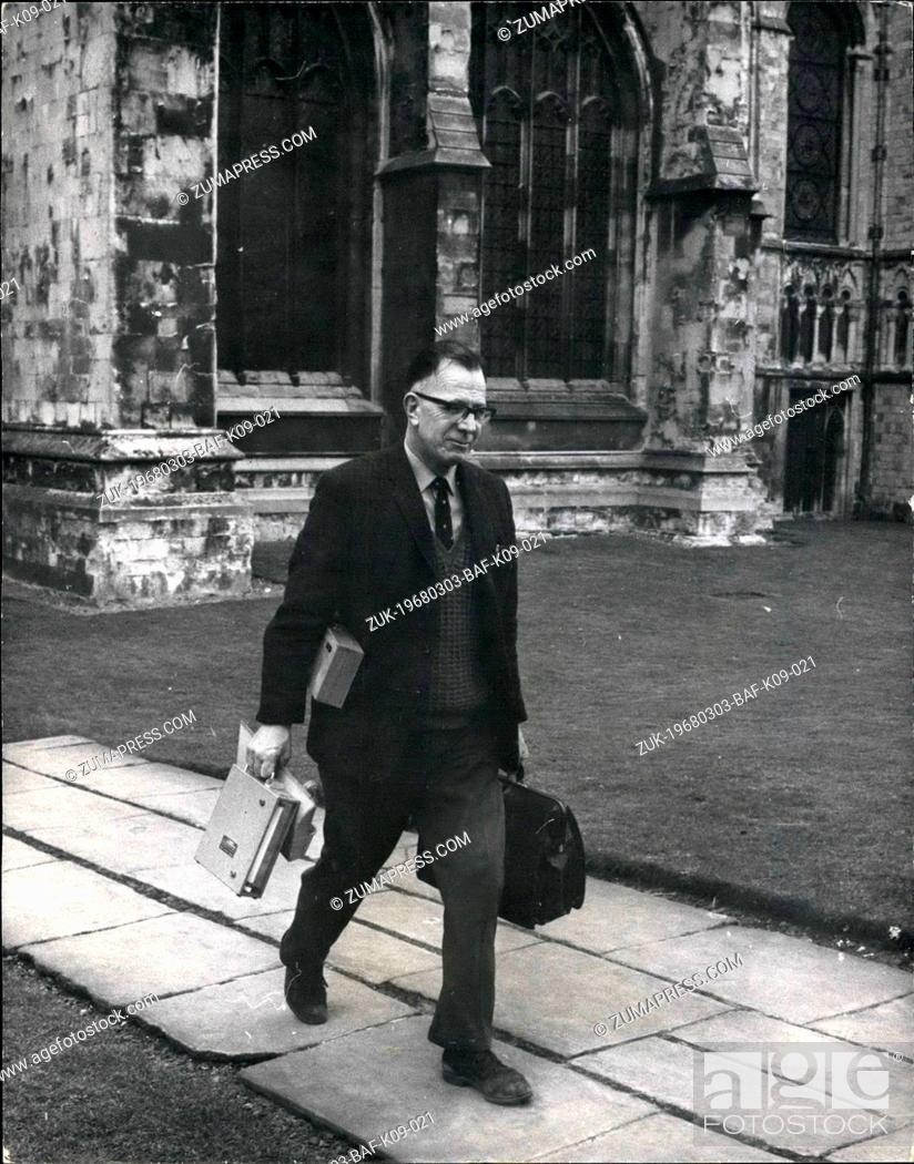 Stock Photo: Mar. 03, 1968 - Gang Raid Canterbury Cathedral A gang broke into Canterbury Cathedral and stole antique silver worth £17, 000.