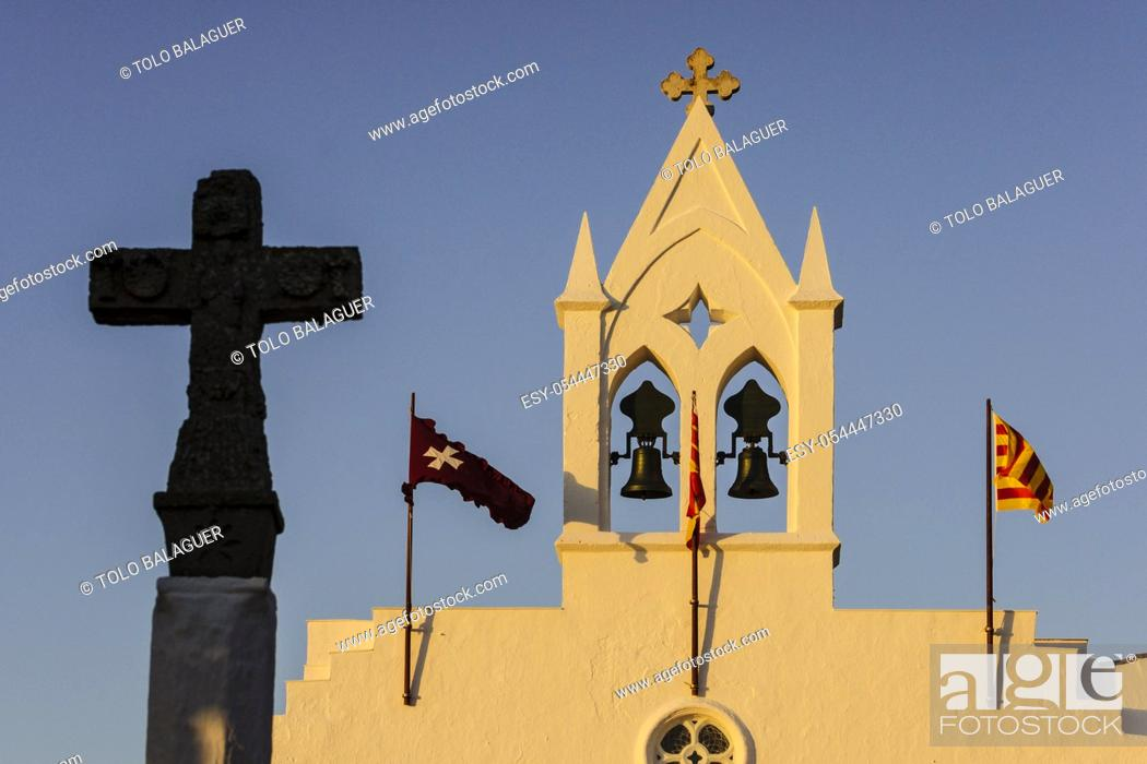 Stock Photo: ermita de Sant Joan de Missa - antes de 1301-. Ciutadella. Menorca, Islas Baleares, españa.