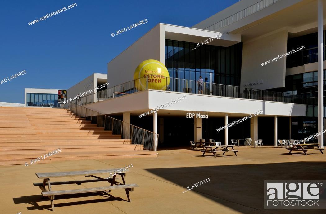 Stock Photo: Universidade Nova SBE, Millennium Estoril Open 2019, Press conference at Nova SBE University, in Carcavelos, Cascais, Portugal.