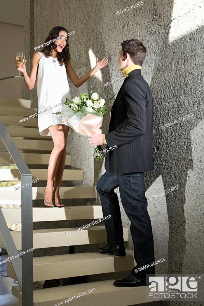 Stock Photo: Romatic couple.